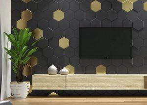 Honeycomb Medium - panel 3D foto