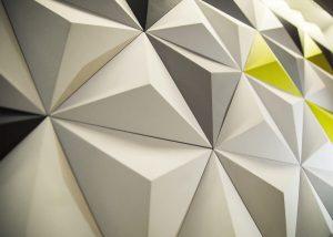 Triangles - panel 3D foto